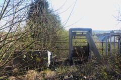 Former railway electrical boxes by trackbed,  Catcliffe, Sheffield  (Former SDR route)   April 2018 (dave_attrill) Tags: catcliffe sheffield railway line disused trackbed remains goods sdr ballast groundwork april 2018 sheffielddistrictrailway southyorkshire