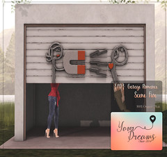 {YD} Garage Romance - Scene Five ({Your Dreams}) Tags: newdecortation yourdreams yourposes partner backdrop garage ironsculpture cute gacha