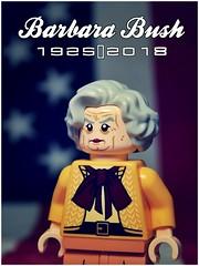 Barbara Bush (LegoKlyph) Tags: lego custom mini figure blocks bush barbara 41st president wife lady usa george bricks