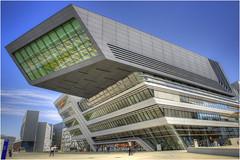 zaha hadid style (Hanspeter Ryser) Tags: wien wirtschaftsuniversität architektur kunst art baukunst objekt vienna campus university architecture center zaha hadid