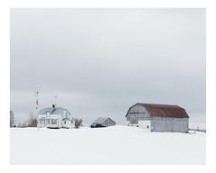 sainte-hénédine (Mériol Lehmann) Tags: vscofilm landscape winter farmstead farm barn canada rural quebec snow topographies saintemarguerite québec ca