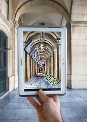 Project with Samsung Note in Lisbon (Ben Heine) Tags: pencilvscamera with tablet lisbon samsung samsungnote portugal improvisation project drawing