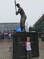 "Paul at the Ernie Banks Statue • <a style=""font-size:0.8em;"" href=""http://www.flickr.com/photos/109120354@N07/41320381140/"" target=""_blank"">View on Flickr</a>"