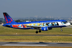 OO-SND   Airbus A320-214   Brussels Airlines (JRC   Aviation Photography) Tags: aerosmurfs snsmurfs oosnd airbusa320214 a320214 airbusa320 airbus a320 bru brusselsairport brussels brusselsairlines smurfs