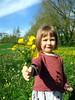 C'est pour vous...! (LILI 296...) Tags: bouquet boutondor fillette girl enfance canonpowershotg7x printemps france champs jaune
