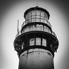 Lighthouse Silhouette 02 B&W (CDay DaytimeStudios w/1,000,000 views) Tags: ca california coastline highway1 landscape lighthouse ocean pacificcoast pigeonpointca rocks seascape