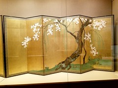 Sakai Hōitsu (1761-1828),Cherry and Maple Trees,Edo Period 1615-1868,early 1820s,2 pairs of six-panel screens;ink, color,and gold leaf on paper (marcos2077) Tags: metropolitanmuseumofart asianart sakaihōitsu foldingscreens