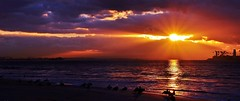 Rain in the East (beachpeepsrus) Tags: clouds rain water westcoast wind alamitosbay longbeachcalifornia light ocean california color coast shore sky sihlouette sunrise sun seagull birds beachfront
