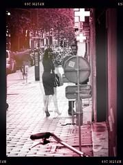 Spirits in the Material World (Fouquier ॐ) Tags: stilettos girl dress sonycybershot dscwx350 monochrome blackandwhite bw antwerp beligum