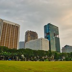 Public park on Arab Street with view of Raffles Hospital in Singapore thumbnail