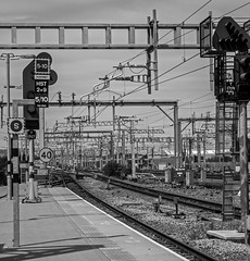 Gantries and Cables at Reading (celia.mulhearn) Tags: blackandwhite cables railways canon1855mm