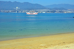 Miyajima Beach (Gedsman) Tags: japan asia northeastasia eastasia traditional culture cultural shinto buddhist tower neon lights travel beauty architecture island temple photography hiroshima miyajima sea seto inland castle atomicbomb abomb atomic bomb