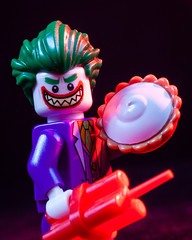 You want the pie? Really? (Chris Blakeley) Tags: joker pie lego minifigure minifig toyphotography