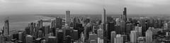 B/W Chicago skyline (Kenny C Photography) Tags: chicago chicagoskyline chitecture architecture buildings skyscapers skyline 360chicago johnhancockbuilding hancockbuildling windycity downtownchicago enjoyillinois panoramic blackandwhite monochrome searstower willistower aoncenter aonbuilding trumptower lakemichigan