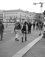 Sotto i tigli (Franco & Lia) Tags: street fotografiadistrada photographiederue passeggiata promenade berlin berlino unterdenlinden deutschland germany germania biancoenero blackwhite schwarzundweiss noiretblanc blackdiamond