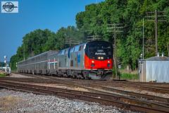 "Eastbound Amtrak ""Southwest Chief"" Passenger Train at Birmingham, MO (Mo-Pump) Tags: train railroad railfan railroader railway railroading locomotive"