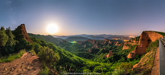 Las médulas at night (Alfredo Madrigal) Tags: astronomy astrophotography moon moonlight stars night landscape goldmine el bierzo ponferrada leon