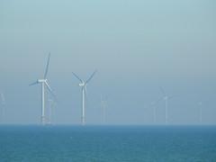 Windmills shrouded in a Sea Mist (uk_dreamer) Tags: mist sea ocean windmill windmills energy power distance abstract seaside misty seamist water ethereal