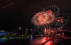 The Glorious Moment (melvhsc100) Tags: ndp2018 nationalday rehearsal marinabay nightscenery fireworks beautifulscenery colorful glorious reflections downtown vibrant event nationalcelebration longexposure nikon7200 nikon1024mm