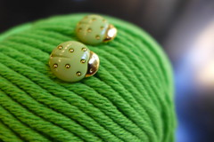 Good morning! (sifis) Tags: knitting knit sakalak button green athens greece cotton
