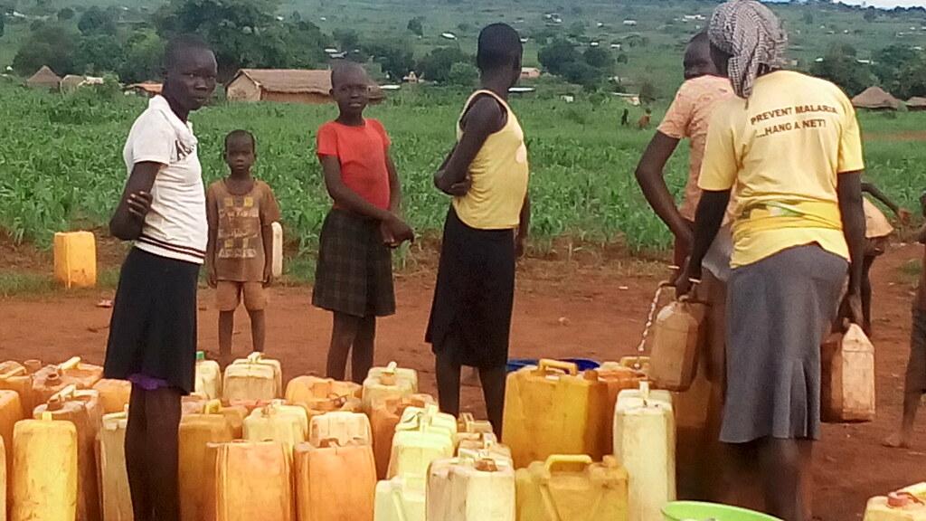 Water collection: Kiryandongo Settlement