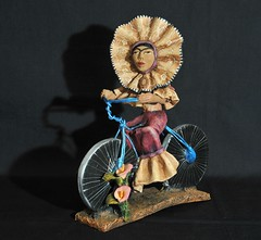 Frida on her Bike Mexican Pottery Oaxaca (Teyacapan) Tags: frida woman bici bicycle pottery ceramics crafts artesanias oaxaca josejuanaguilar ocotlan