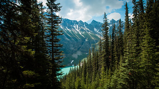 Hiking to Lake Louise view point, Banff National Park