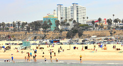 Santa Monica (Baywatch) beach (M McBey) Tags: santamonica beach california usa la losangeles fun pacificpalisades swiming sand