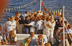Dance (Leifskandsen) Tags: boat dance passengers oslofjorden charter travel vintage old sunrise camera scanned living leifskandsen skandsenimages scandinavia skandsen