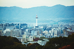 Kyoto tower and Kyoto city skyline, Kyoto Japan (Patrick Foto ;)) Tags: aerial architecture asia attraction autumn background beautiful building business central city cityscape color daytime destination district downtown famous high japan japanese kansai kiyomizudera kyoto landmark landscape nature place scenery scenic sky skyline spring station tourist tower town train travel urban view kyōtoshi kyōtofu jp