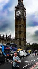 🎡 (asekersoz) Tags: london bigben running runner uk unitedkingdom england londoner rainy blue bluesky sky clock world travel