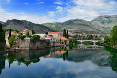 View of Trebinje (Jocelyn777) Tags: landscapes cityscapes reflections waterreflections towns historictowns trebinje balkans bosniaandherzegovina travel