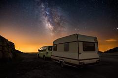 Under the sky (modesrodriguez) Tags: catalonia landscape rasosdepeguera caravan sky stars milkyway camping paisaje estrellas vialactea rasos peguera