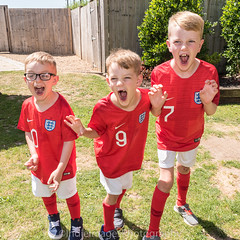 3 Lions (Indie Images photography) Tags: 3lions logan queenshead stokepound taylor george worldcup2018 footballfans englandshirts