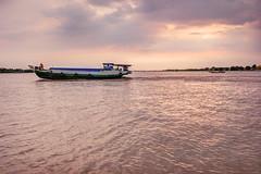 Le Mékong (Mat Distef) Tags: vietnam seascape fleuve river bat travel light sunset
