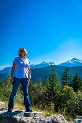 Lori taking in the views in Whistler.