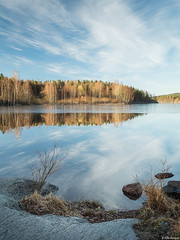 Lake landscape (Ville Kangas) Tags: lake landscape morning spring calm