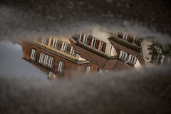 German Puddle Reflection (huw_thomas06) Tags: landscape puddle reflection city buildings germany building house houses town abstract obscure different water old traditional shutters ground europe pavement tarmac window windows roof roofs paintedwalls painted brick sky european tiles travel characteristic sidewalk nikon dslr d750 sigma 35 mm f14 art