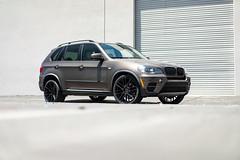 BMW X5 on TSW Mosport 20in wheels - 4 (tswalloywheels1) Tags: gray grey bmw e70 x5 20in 20x105 super deep concave superdeep tsw mosport aftermarket alloy alloys wheel wheels rim rims matte black