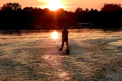 Water Skiing at Sunset, Coe Hill, Ontario (Joseph Hollick) Tags: fast flickrfriday waterskiing sunset coehill