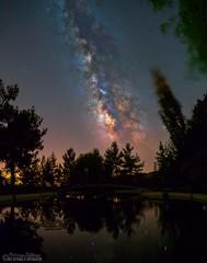 "Troodos at night. (thegreat26 AKA ""HoRsEfRiEnD"") Tags: milkyway starrynight nightscape nightphotography nature troodos galaxy cyprus longexposure pentaxk1 stars forest"