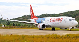 JSI/LGSK: Sunweb (operated by Transavia) Boeing B737-800 PH-HSJ