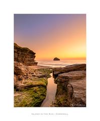 Island in the Sun (Ken Walker Photography) Tags: seaside landscape sunset border cliffs water seascape sky outdoor colours cornwall england rocks