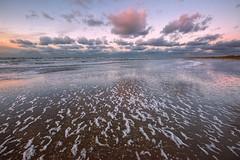 North Sea in winter (Julysha) Tags: strand beach sunset 2015 winter january thenetherlands noordholland northsea foam nikkor7020028vrii nikkor1635vr tiffenhtndgrad acr d800e