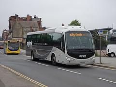 trent barton 76 Nottingham (Guy Arab UF) Tags: trent barton 76 fj10oxs scania k94ib4 irizar i4 coach arkwright street nottingham skylink express bus wellglade buses wellgladegroup