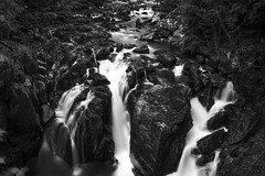 "fine art black & white view of the falls on the River Braanin from Ossian's Hall, The Hermitage Pleasure Ground, Dunkeld, Perth & Kinross, Scotland (grumpybaldprof) Tags: bw blackwhite ""blackwhite"" ""blackandwhite"" noireetblanc monochrome ""fineart"" ethereal striking artistic interpretation impressionist stylistic style contrast shadow bright dark black white illuminated ""longexposure"" ""neutraldensity"" nd ""perthandkinross"" pitlochry"" atholl"" ""robertburns"" ""dukeofatholl"" scotland uk ""thehermitage"" ""thehermitagepleasureground"" ""nationaltrustforscotland"" nts dunkeld ""riverbraanin"" ""craigvineanforest"" ossian ""dunkeldhouse"" ""ossian'shallofmirrors"" folly follies gorge glen river falls waterfalls ""ossian'scave"" hermit ""hermit'scave"" ""douglasfir"" 1760 1750s ""blacklinnfalls"" ""grumblingbridge"" bridges forest wood walks paths ""cedaroflebanon"" bard riverside canon 7d ""canon7d"" sigma 1020 1020mm f456 ""sigma1020mmf456dchsm"" ""wideangle"" ultrawide"