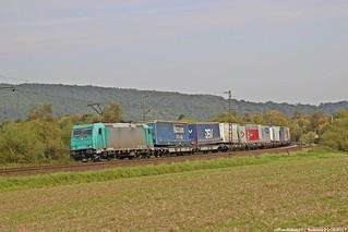 ATLU/TXL 185 614 am 22.09.2017 mit einem KLV in Haunetal-Neukirchen