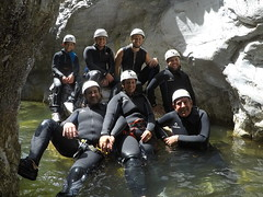 Canyon (touring_fishman) Tags: june 2018 spain friends james canyoning group water wetsuits