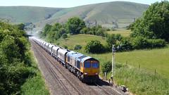 Annette hauls the stone (Steel Rails) Tags: edale derbyshire peak district hope valley line railway train diesel
