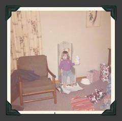 Antique'd for Angel (Faces Unfamiliar) Tags: 1972 1970s christmas1972 vintagecolorsnapshot squareformat vintagechristmas facesunfamiliarcollection
